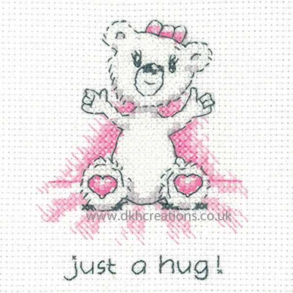 Peter Underhill Justine Just A Hug Greeting Card Cross Stitch Kit